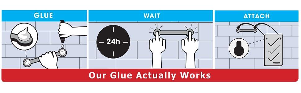 Ten wiszący kaddy do kąpieli jest instalowany przy użyciu kleju, więc nigdy więcej wiercenia, przyssawek lub przyssawek.