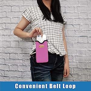 men handbag wallet purse carry holster zipper belt waterproof water resistant anti shock portable