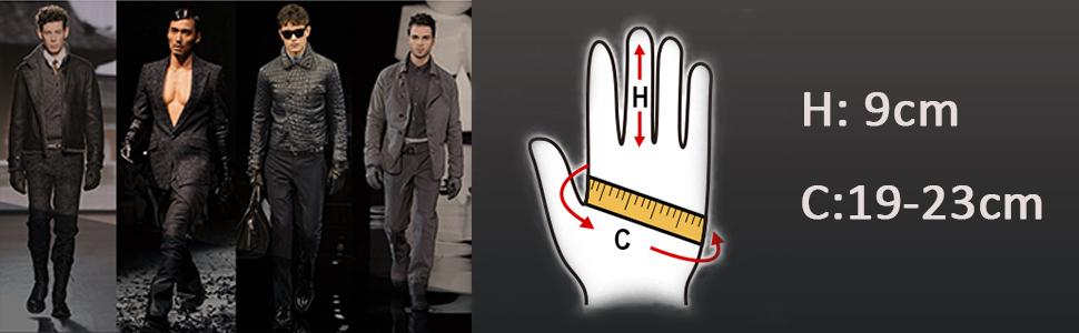 men black leather gloves
