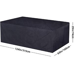 Fuloon Funda de Cubos para Muebles en Patio de Jardín, Tela Oxford ...