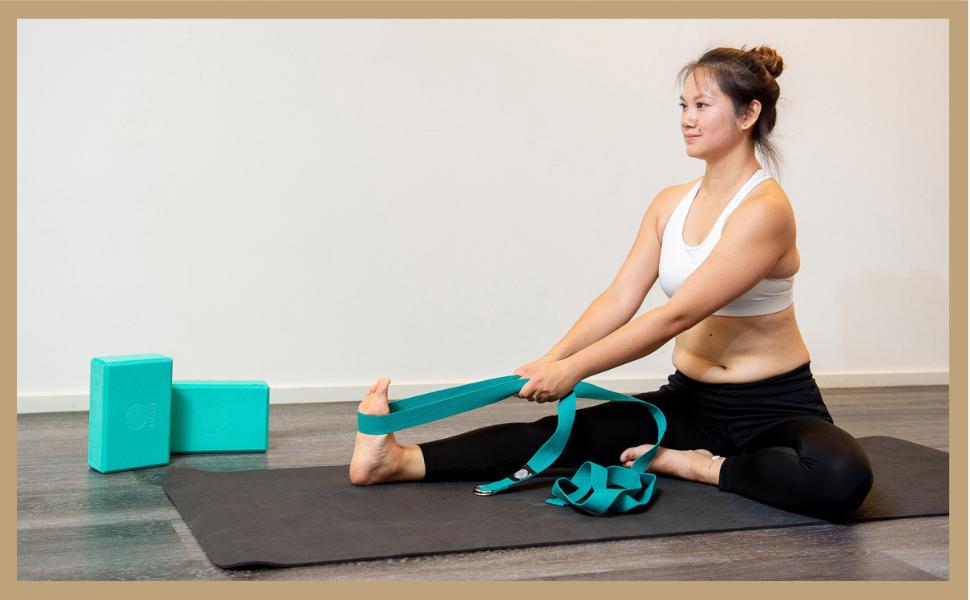 Yamkas Cinturon Yoga Correa | 1.8m - 3M | Correas Yoga Estiramiento | Yoga Strap Belt 100% Algodon |: Amazon.es: Deportes y aire libre