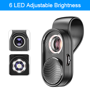 led light with macro lens