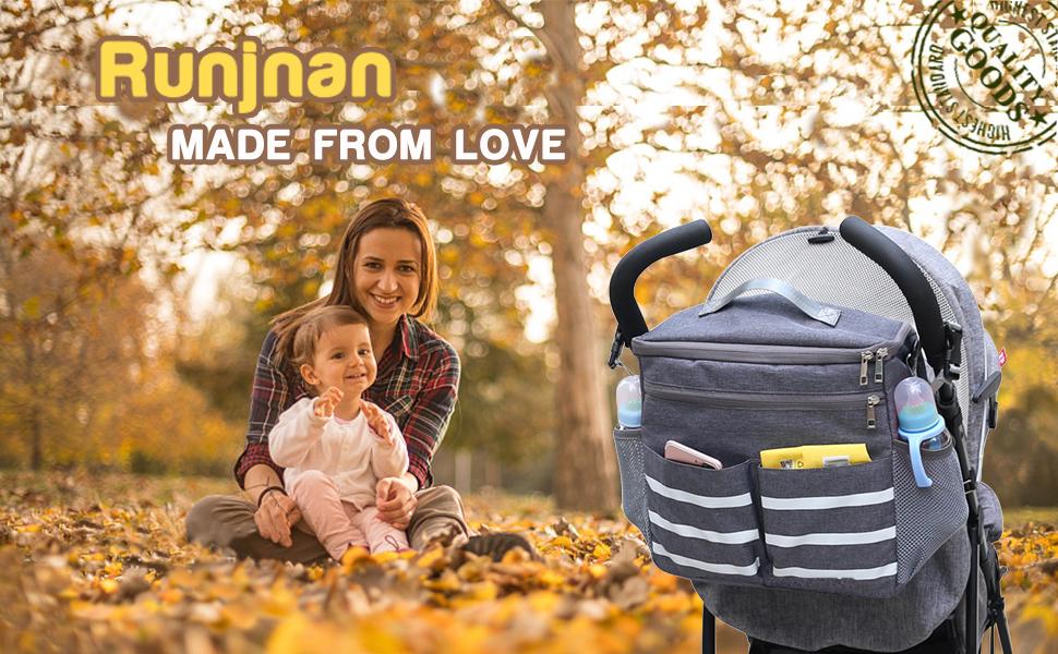 RUNJNAN baby stroller bag