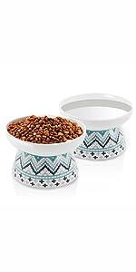 cat food and water bowl set,raised cat bowl,ceramic cat bowl