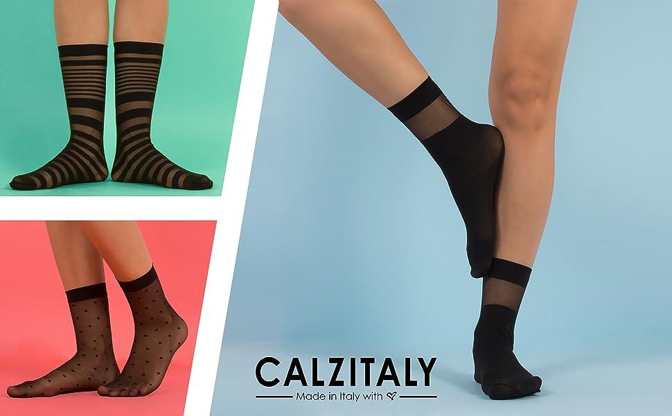 Calze donna velate fantasia, calze donna velate nere, calzini donna velati, calzini donna fashion
