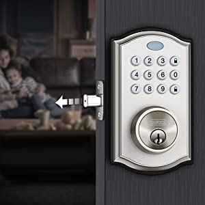 Keypad Deadbolt Lock - Handy to Install & Programme Keypad Deadbolt, Keyless Entry Door Lock