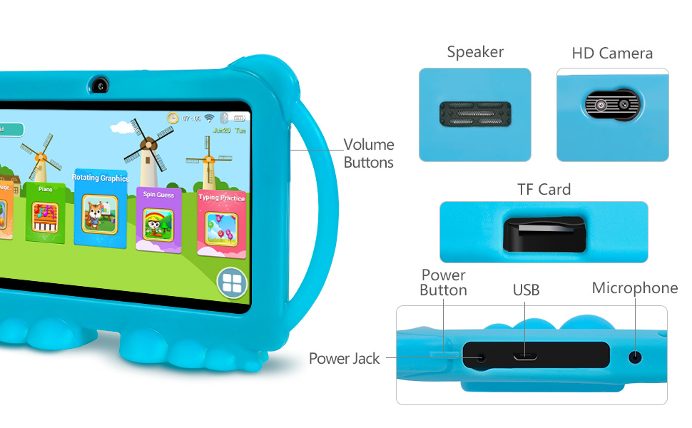 tablet for toddlers learning tablet childrens learning tablet kid fire tablet android 7 inch tablet