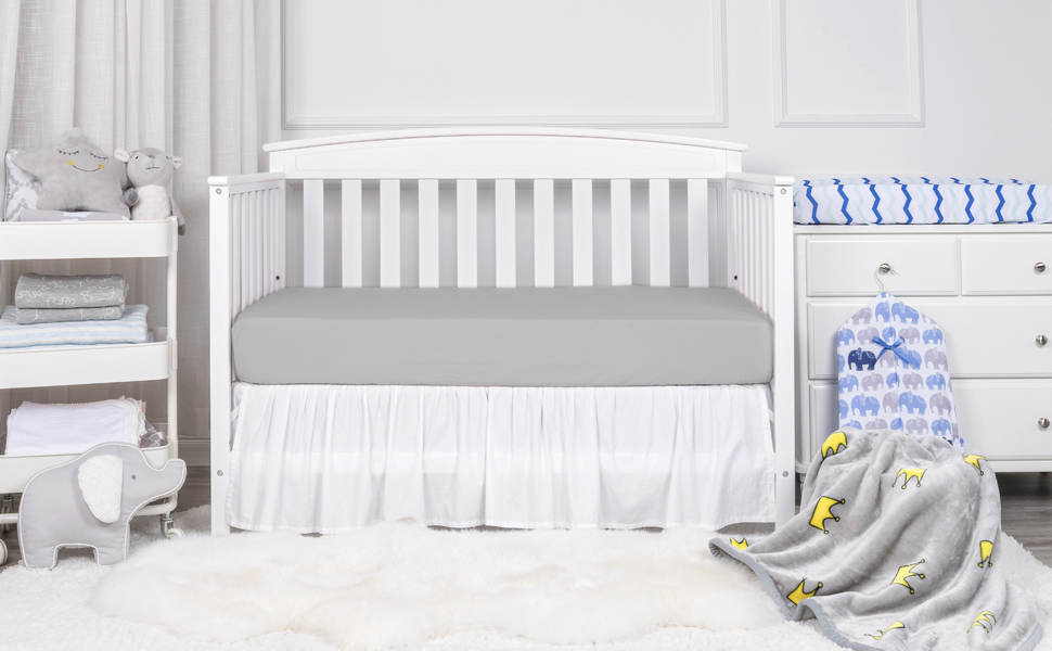 tillyou flannel crib mattress