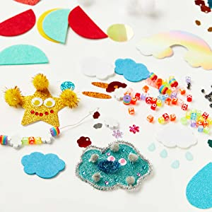 head in the clouds craft kit sparkles cake arts and crafts diy craft kits for kids beads eyes
