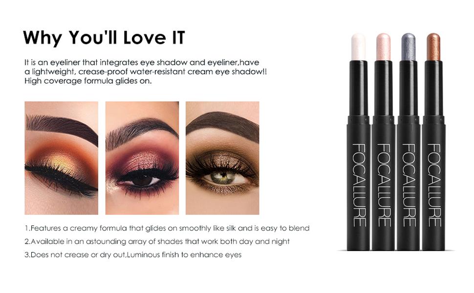 FOCALLURE (2-3 Pcs) 2 in 1 Eyeshadow and Eyeliner Pen