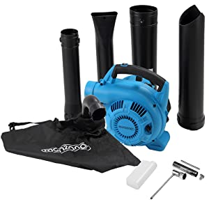Monzana 4en1 Soplador aspirador y trituradora de gasolina con bolsa de 45L herramienta para exterior jardín 2 tubos: Amazon.es: Bricolaje y herramientas