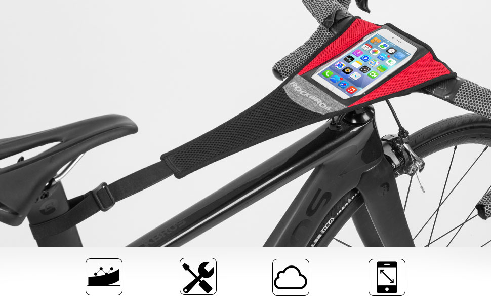 Inzopo Universal Bike Turbo Roller Trainer Sweat Catcher Net Strap Frame Guard Protector for Stationary Bicycle General