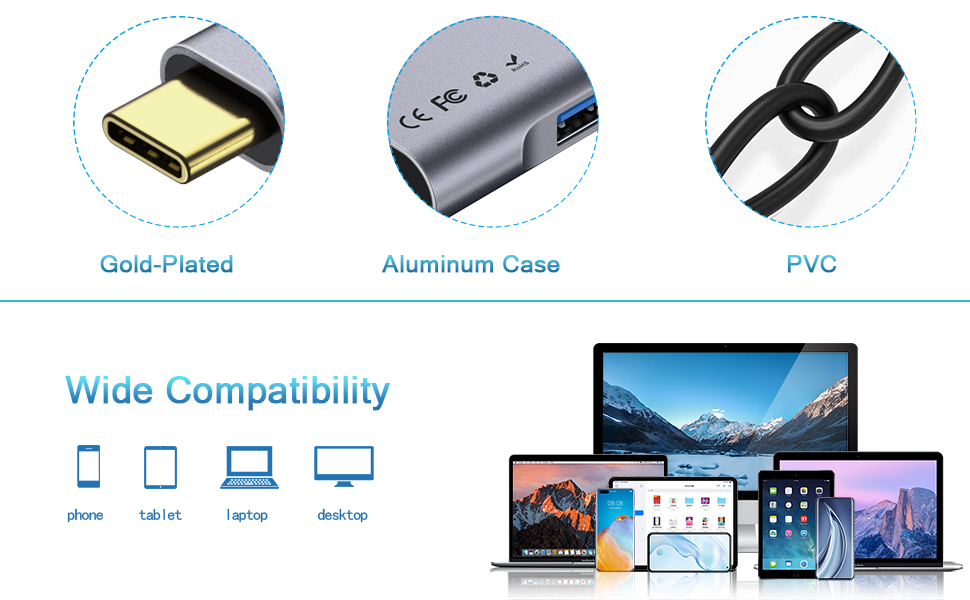Material and Compatibility of USB C Hub
