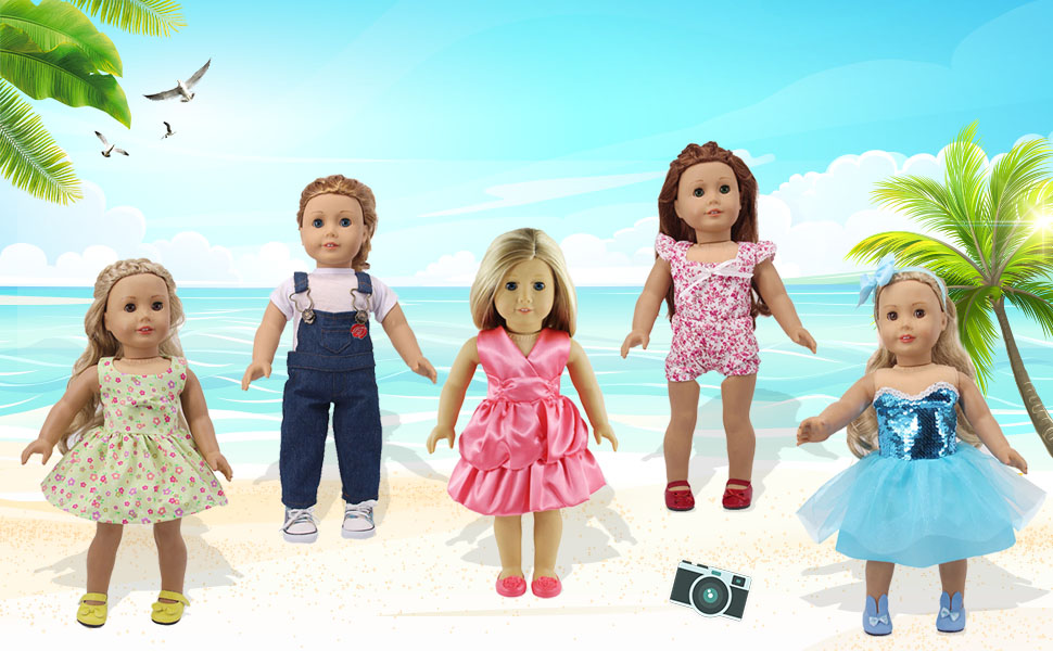18inch American girl doll clothes and shoes