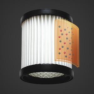 filtro HEPA, alta eficiencia