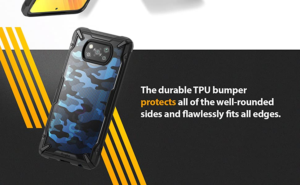 Ringke Fusion-X Compatible with Poco X3 NFC Case (2020)