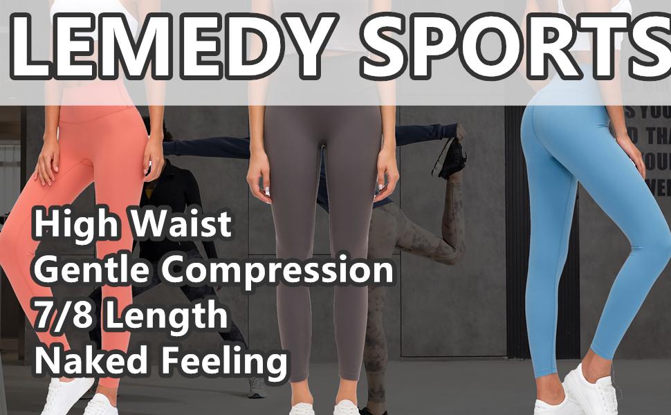 Lemedy Women Naked Feeling High Waist Tight Yoga Pants Workout Athletic Leggings