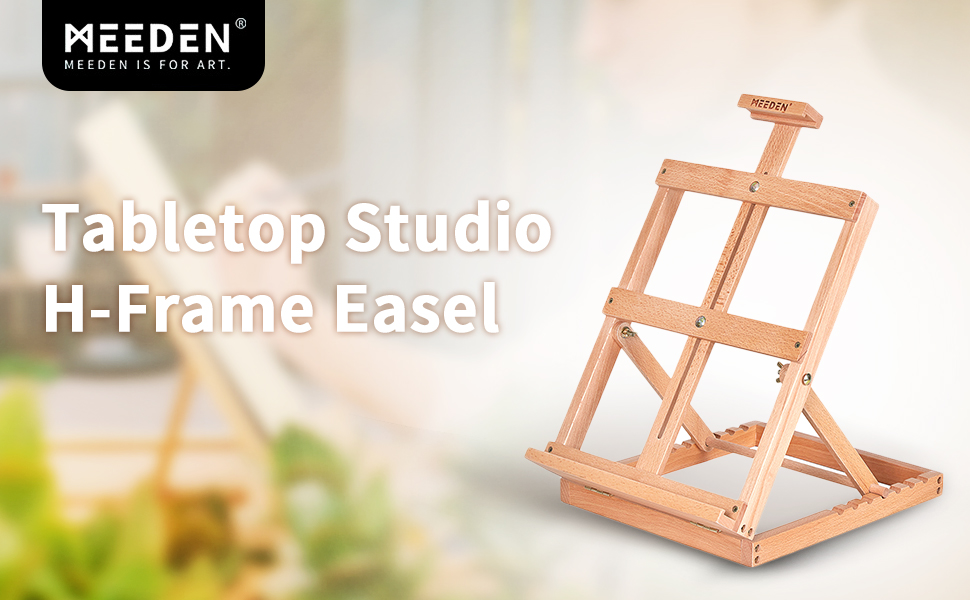 Well made sturdy adjustable easel. folds, stores and sets up easily. solid beech wood made