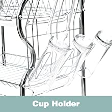 dish rack with cup holder