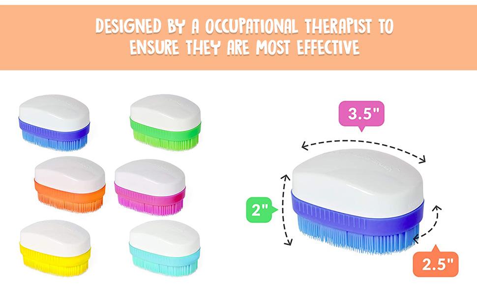 Therapressure Wilbarger Method Sensory Brush 6-Pack