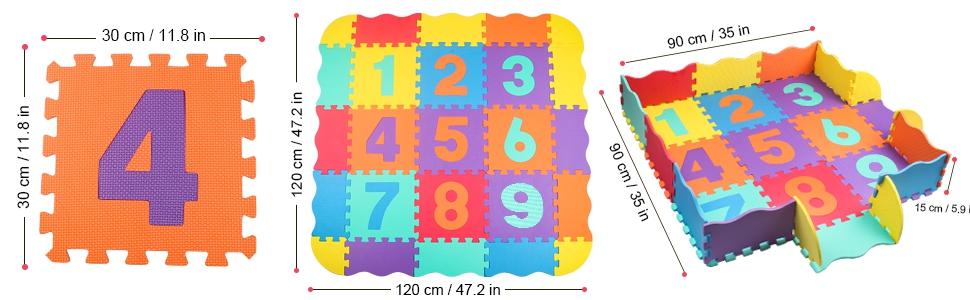 puzzle foam play mat