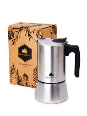 Groenenberg Cafetera Italiana inducción, 4 Tazas (200 ml)   Cafetera Espresso de Acero INOX   Moka Expresso Maker Incl. Junta de Silicona de Recambio e Instrucciones Paso a Paso   Sin Aluminio: Amazon.es: Hogar