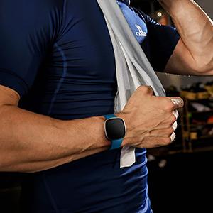 Suave Deportiva de Repuesto Correa Compatible con Fitbit Versa 3//Sense CeMiKa 2 Paquete Correa Compatible con Fitbit Versa 3 Correa//Fitbit Sense Correa Peque/ña Agua//Lila