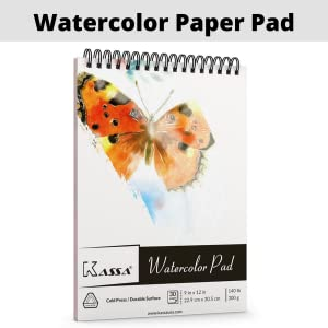 kassa watercolor paper pad for painting sketching and water coloring