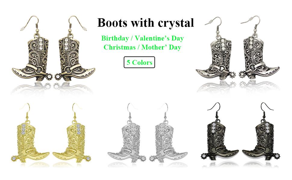 Crystal dangle earrings for women