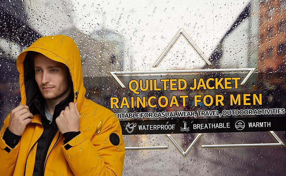 waterproof rainjacket for men