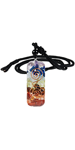 7 Chakra Healing Crystal Stone Orgone Necklace for Men
