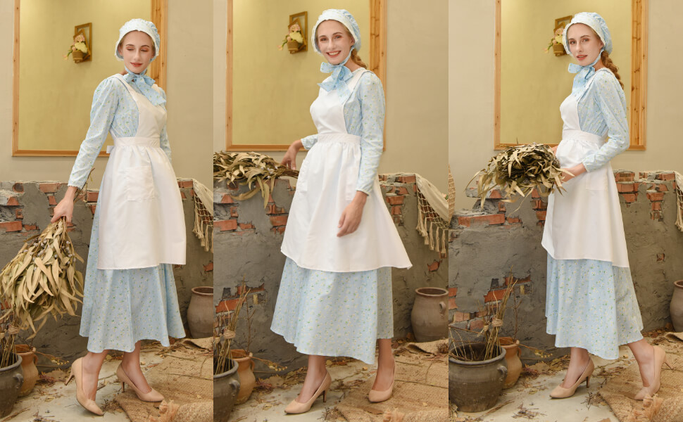 colonial dress costume adult prairie colonial dress
