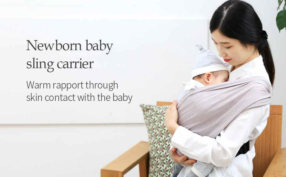 Newborn baby sling carrier