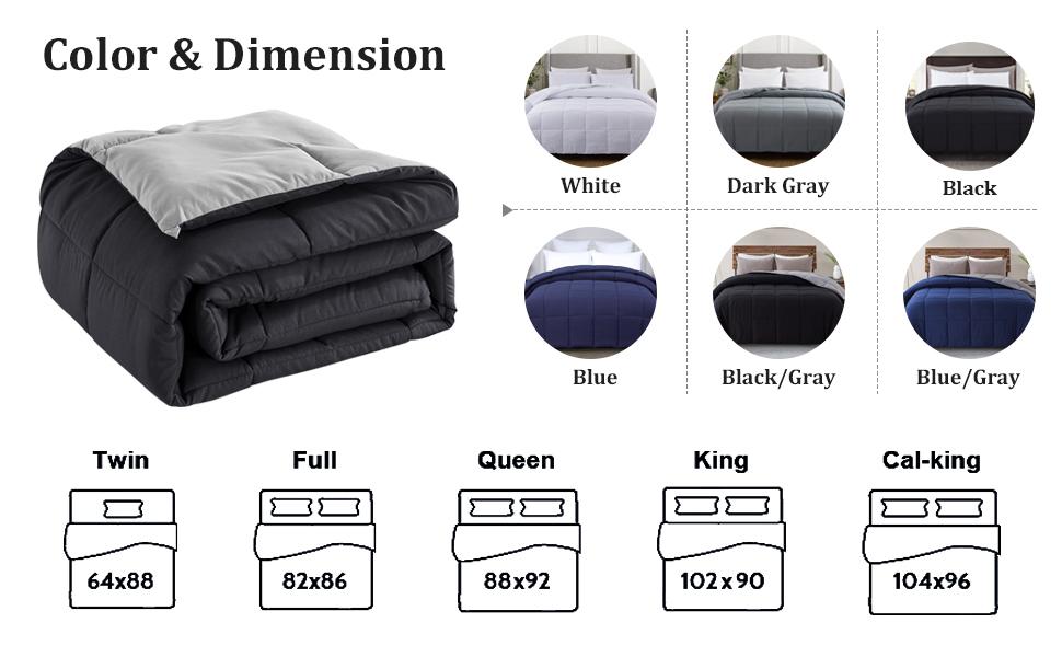 twin full queen california king comforter