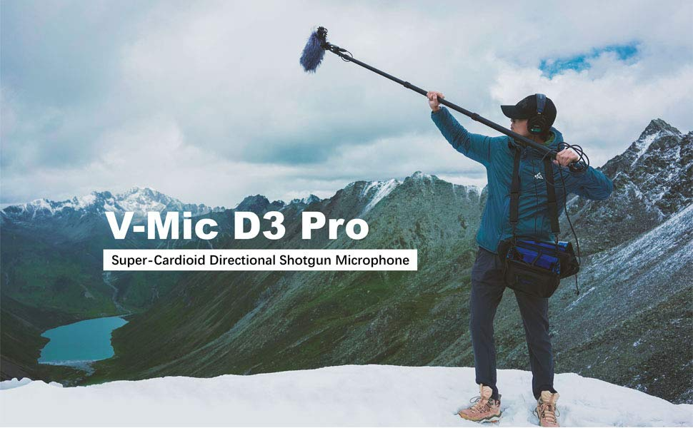 V-Mic D3 Pro KIT Deity Microphones V-Mic D3 Pro KIT Supercardioid On-Camera Shotgun Microphone with Rycote Lyre Suspension