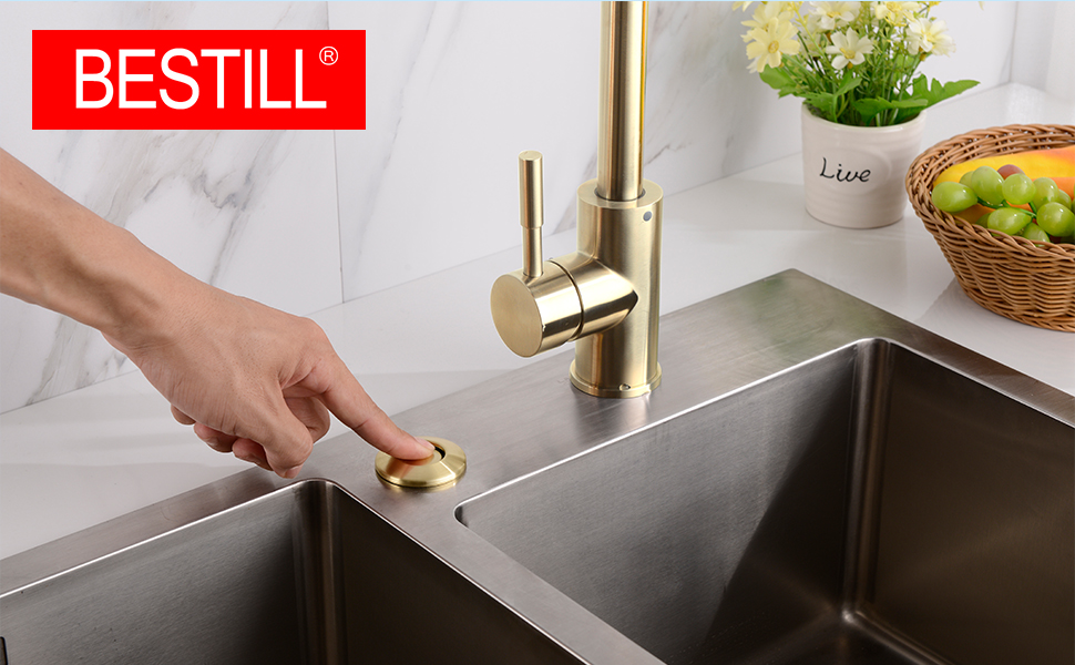 New Sink Stopper French Gold Garbage Disposals Sink Flanges Sink Top Switches