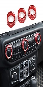 AC Air Conditioning Switch Knob Button Cover for 2018+ Jeep Wrangler JL, for 2020+Jeep Gladiator JT