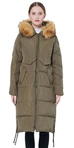 Winter Drawstring Down Coat