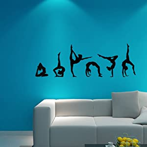 Artistic Gymnastics Wall Stickers For Girls Bedroom Vinyl Decals Home Decor