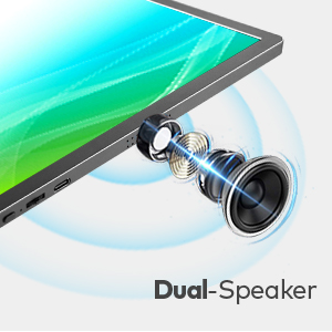 Speaker  13.3″ Portable Monitor, Kogoda FHD 1080P USB Computer Display Eye Care Gaming Monitor External Secondary Display with IPS Panel, HDMI, Type-C, Dual Speakers for PC Laptop Mac Phone PS4 Xbox (Gray) 09a90381 a8be 4bae 8030 236bce99a997