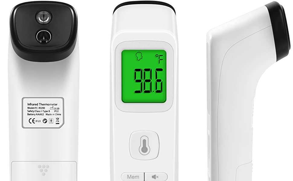 Heavy Duty LCD Display Non-Contact Infrared Forehead Thermometer