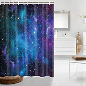 Details about  /Space Shower Curtain Galaxy with Magical Stars Print for Bathroom