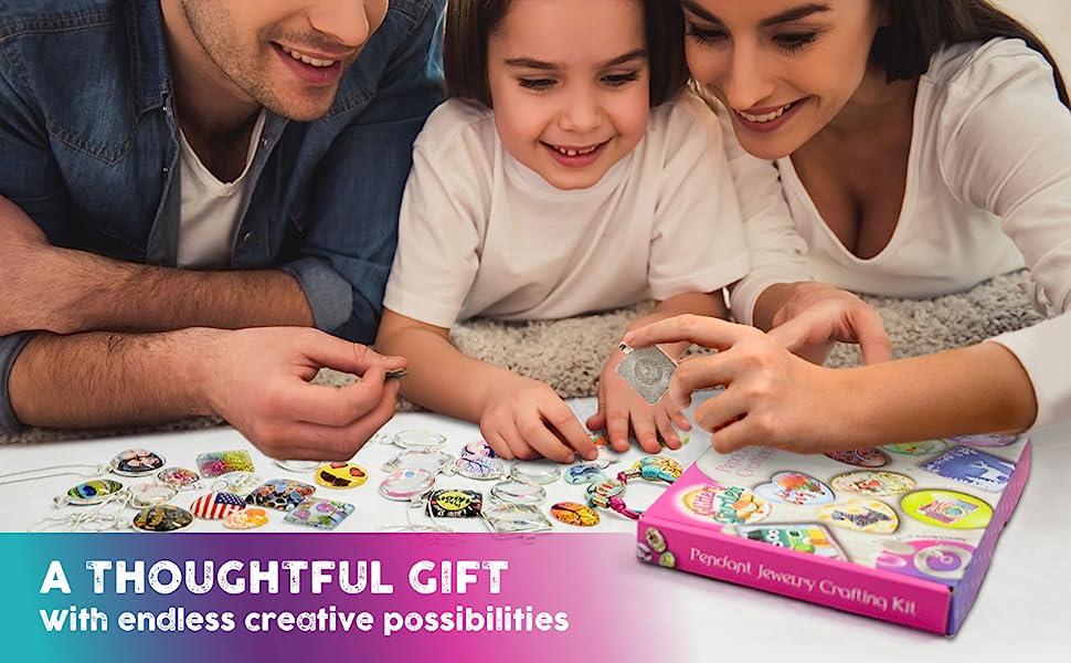 a thoughtful gift craft kit jewelry making girls age 8 9 10 11 12 13 14 premium family lockdown