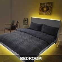 led strips lights for bedroom