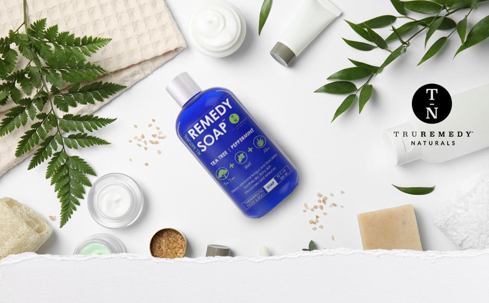 organic body foot soap remedy cleaning health tea tree mint aloe