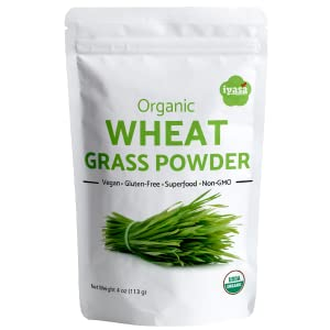Iyasa Holistics Wheat Grassb Powder Front Pack