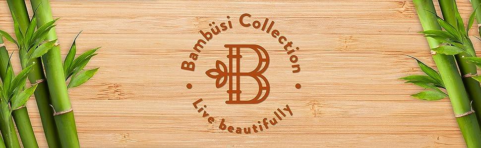 Bambusi natural bamboo items logo