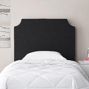 Black Personalized Headboard Dorm College Students Sorority Fraternity Designer Bedding Accessory