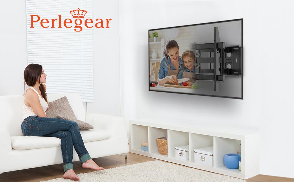 """Perlegear Soporte TV Pared Articulado Inclinable Y Giratorio – Soporte De TV para Pantallas De 37-70"""" TV – MAX VESA 600x400mm, para Soportar 60kg: Amazon.es: Electrónica"""