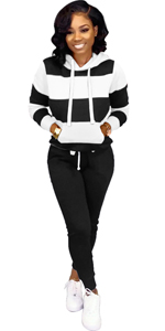 women two piece tracksuit set for women stripes 2 piece outfits sweatsuits jumpsuits hoodies